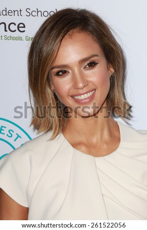 LOS ANGELES - MAR 17:  Jessica Alba at the 2015 Impact Awards Dinner at the Beverly Wilshire Hotel on March 17, 2015 in Beverly Hills, CA - stock photo