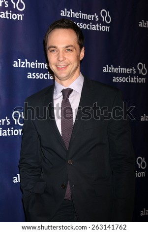 LOS ANGELES - MAR 18:  Jim Parsons at the 23rd Annual A Night at Sardi's to benefit the Alzheimer's Association at the Beverly Hilton Hotel on March 18, 2015 in Beverly Hills, CA - stock photo