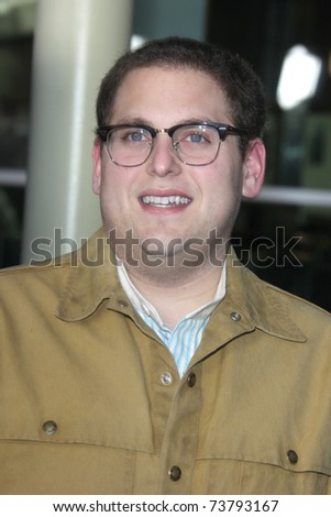 "LOS ANGELES - MAR 22:  Jonah Hill arrives at the ""Ceremony"" Premiere at ArcLight Theater on March 22, 2011 in Los Angeles, CA - stock photo"