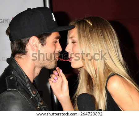 """LOS ANGELES - MAR 27:  Justin Gaston, Melissa Ordway at the """"A Girl Like Her"""" Screening at the ArcLight Hollywood Theaters on March 27, 2015 in Los Angeles, CA - stock photo"""