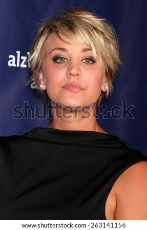 LOS ANGELES - MAR 18:  Kaley Cuoco-Sweeting at the 23rd Annual A Night at Sardi's to benefit the Alzheimer's Association at the Beverly Hilton Hotel on March 18, 2015 in Beverly Hills, CA - stock photo