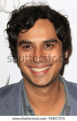 LOS ANGELES - MAR 1:  Kunal Nayyar arrives at the Academy of Television Arts & Sciences 21st Annual Hall of Fame Ceremony at the Beverly Hills Hotel on March 1, 2012 in Beverly Hills, CA - stock photo