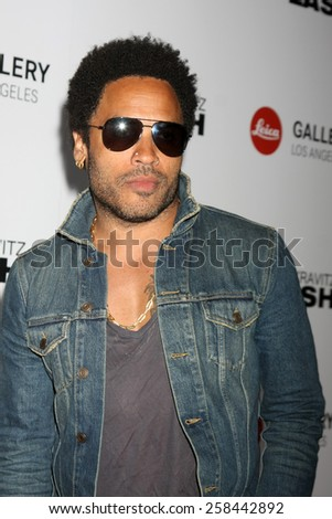 "LOS ANGELES - MAR 5:  Lenny Kravitz at the ""Flash by Lenny Kravitz"" Photo Exhibit Launch at the Leica Gallery Los Angeles on March 5, 2015 in Los Angeles, CA - stock photo"