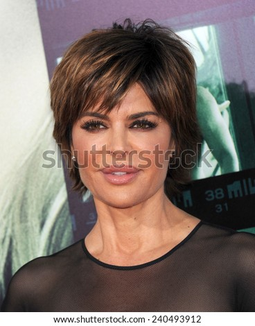 "LOS ANGELES - MAR 12:  Lisa Rinna arrives to the """"Veronica Mars"" Los Angeles Premiere  on March 12, 2014 in Hollywood, CA                 - stock photo"