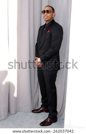 LOS ANGELES - MAR 14:  Ludacris, Chris Bridges at the Comedy Central Roast of Justin Bieber at the Sony Pictures Studios on March 14, 2015 in Culver City, CA - stock photo