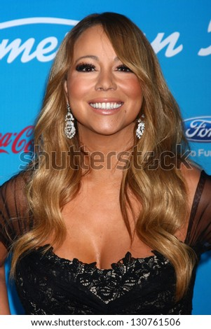 "LOS ANGELES - MAR 7:  Mariah Carey arrives at the 2013 ""American Idol"" Finalists Party at the The Grove on March 7, 2013 in Los Angeles, CA"