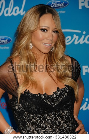 LOS ANGELES - MAR 7 - Mariah Carey arrives at the American Idol Season 12 Finalists Party on March 7, 2013 in Los Angeles, CA