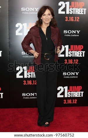 "LOS ANGELES - MAR 13:  Marilu Henner arrives at the ""21 Jump Street""  Premiere at the Graumans Chinese on March 13, 2012 in Los Angeles, CA"