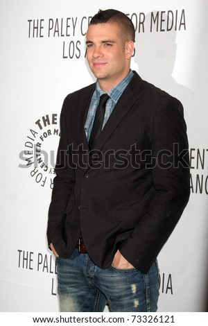 "LOS ANGELES - MAR 16:  Mark Salling arriving at the ""Glee"" PaleyFest 2011 at Saban Theatre on March 16, 2011 in Beverly Hills, CA"