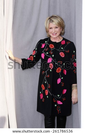 LOS ANGELES - MAR 14:  Martha Stewart at the Comedy Central Roast of Justin Bieber at the Sony Pictures Studios on March 14, 2015 in Culver City, CA - stock photo