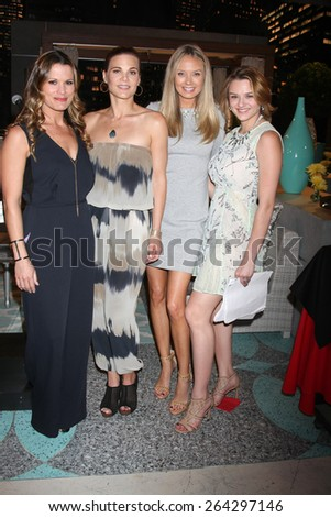LOS ANGELES - MAR 26: Melissa Clare Egan, Gina Tognoni, Melissa Ordway, Hunter King at the Young & Restless 42nd Anniversary Celebration at the CBS Television City on March 26, 2015 in Los Angeles, CA - stock photo