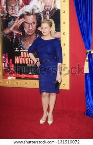 "LOS ANGELES - MAR 11:  Melissa Joan Hart arrives at the World Premiere of ""The Incredible Burt Wonderstone"" at the Chinese Theater on March 11, 2013 in Los Angeles, CA"