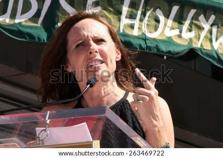 LOS ANGELES - MAR 24:  Molly Shannon at the Will Farrell Hollywood Walk of Fame Star Ceremony at the Hollywood Boulevard on March 24, 2015 in Los Angeles, CA - stock photo