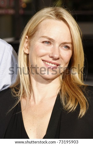 LOS ANGELES - MAR 14:  Naomi Watts arriving at the US premiere of 'Paul' at the Grauman's Chinese Theater L.A.Live in Los Angeles, California on March 14, 2011. - stock photo