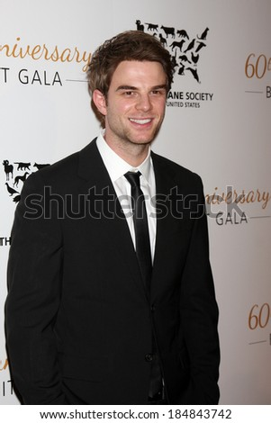 LOS ANGELES - MAR 29:  Nathaniel Buzolic at the Humane Society Of The United States 60th Anniversary Gala at Beverly Hilton Hotel on March 29, 2014 in Beverly Hills, CA - stock photo