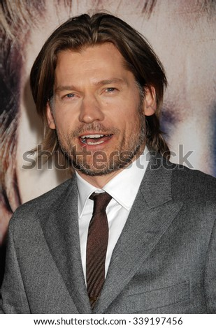 LOS ANGELES - MAR 18 - Nikolaj Coster-Waldau arrives at the Game Of Thrones Season 3 Los Angeles Premiere on March 18,  2013 in Los Angeles, CA              - stock photo