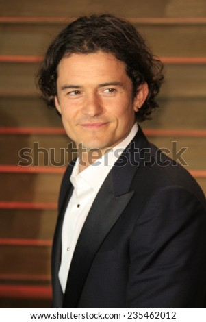 LOS ANGELES - MAR 2:  Orlando Bloom at the 2014 Vanity Fair Oscar Party at the Sunset Boulevard on March 2, 2014 in West Hollywood, CA - stock photo