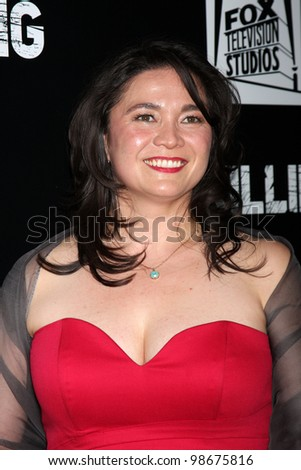 """LOS ANGELES - MAR 26:  Patti Kim arrives at  the AMC's """"The Killing"""" Season 2 Premiere at the ArcLight Theaters on March 26, 2012 in Los Angeles, CA - stock photo"""