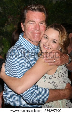LOS ANGELES - MAR 26:  Peter Bergman, Hunter King at the Young & Restless 42nd Anniversary Celebration at the CBS Television City on March 26, 2015 in Los Angeles, CA