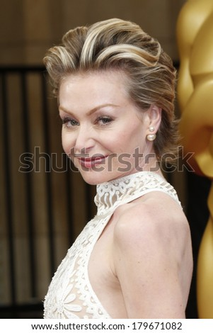 LOS ANGELES - MAR 2:  Portia de Rossi at the 86th Academy Awards at Dolby Theater, Hollywood & Highland on March 2, 2014 in Los Angeles, CA - stock photo