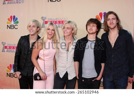 LOS ANGELES - MAR 29:  R5 at the 2015 iHeartRadio Music Awards at the Shrine Auditorium on March 29, 2015 in Los Angeles, CA - stock photo