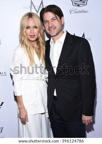 LOS ANGELES - MAR 20:  Rachel Zoe & Rodger Berman arrives to the 2nd Annual Fashion Los Angeles Awards  on March 20, 2016 in Hollywood, CA.                 - stock photo
