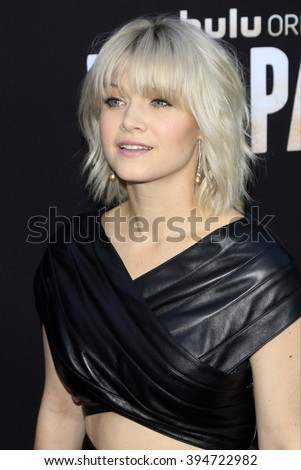 LOS ANGELES - MAR 21: Sarah Jones at the Premiere of 'The Path' at Arclight Hollywood on March 21, 2016 in Los Angeles, California - stock photo
