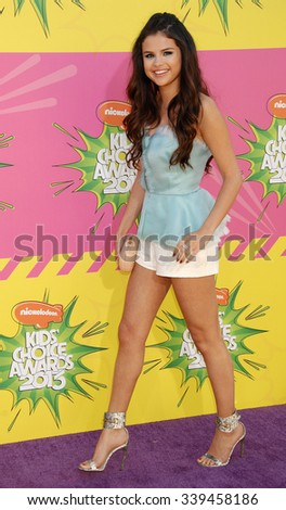 LOS ANGELES - MAR 23 - Selena Gomez arrives at the Nickelodeons 2013 Kids Choice Awards on March 23,  2013 in Los Angeles, CA              - stock photo