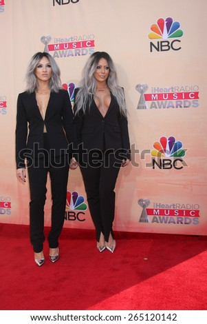 LOS ANGELES - MAR 29:  Shannon Bex, Aubrey O'Day at the 2015 iHeartRadio Music Awards at the Shrine Auditorium on March 29, 2015 in Los Angeles, CA - stock photo