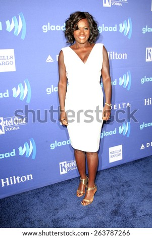 LOS ANGELES - MAR 21:  Viola Davis at the 26th Annual GLAAD Media Awards at the Beverly Hilton Hotel on March 21, 2015 in Beverly Hills, CA - stock photo