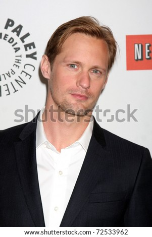 "LOS ANGELES -  MARCH 5: Alexander Skarsgard arrives at the ""True Blood"" PaleyFest 2011 at Saban Theatre in Beverly Hills on March 5, 2011 in Beverly Hills, CA - stock photo"