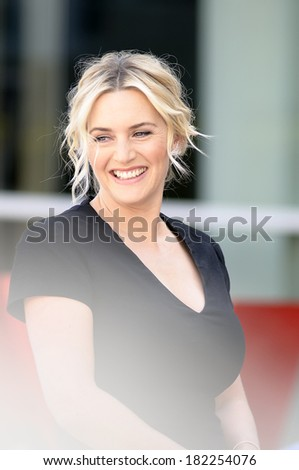 LOS ANGELES - March 17: American actress Kate Winslet receives her star on Hollywood Walk of Fame at Hollywood Blvd on March 17, 2014 in Los Angeles, CA.  - stock photo