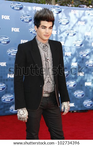 LOS ANGELES - MAY 6: Adam Lambert at the American Idol Finale at the Nokia Theater in Los Angeles, California on May 25, 2011