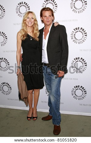 LOS ANGELES - MAY 13: Alana Stewart and son Sean Stewart at the Paley Center for Media world premiere screening of 'Farrah's Story' in Beverly Hills, California on May 13, 2009 - stock photo