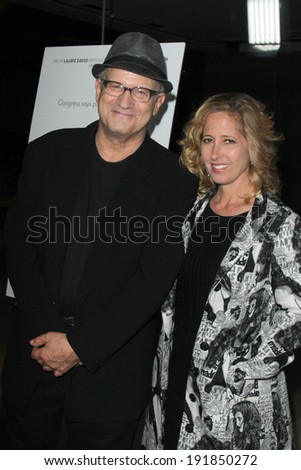 "LOS ANGELES - MAY 8:  Albert Brooks at the ""Fed Up"" Premiere at Pacific Design Center on May 8, 2014 in West Hollywood, CA"
