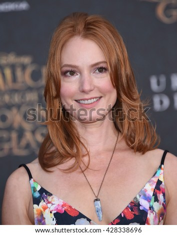"LOS ANGELES - MAY 23:  Alicia Witt arrives to the ""Alice Through The Looking Glass"" American Premiere  on May 23, 2016 in Hollywood, CA."