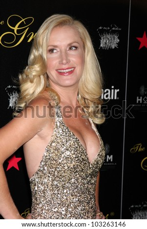 LOS ANGELES - MAY 22:  Angela Kinsey arrives at the 37th Annual Gracie Awards Gala at Beverly Hilton Hotel on May 22, 2012 in Beverly Hllls, CA - stock photo