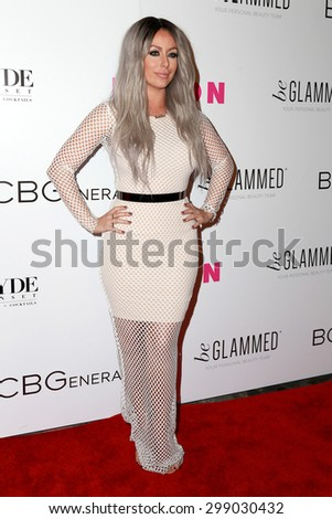 LOS ANGELES - MAY 7:  Aubrey O'Day at the NYLON Magazine Young Hollywood Issue Party  at the HYDE Sunset on May 7, 2015 in West Hollywood, CA - stock photo