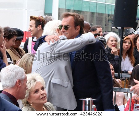 LOS ANGELES - MAY 19:  Bill Hayes, Thaao Penghlis at the Deidre Hall Hollywood Walk of Fame Ceremony at the Hollywood Blvd. on May 19, 2016 in Los Angeles, CA - stock photo