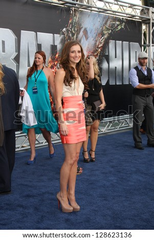 "LOS ANGELES - MAY 10:  Candace Bailey arrives at the ""Battleship"" LA Premiere at Nokia Theater LA Live on May 10, 2012 in Los Angeles, CA"
