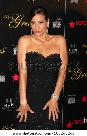 LOS ANGELES - MAY 22:  Constance Marie arrives at the 37th Annual Gracie Awards Gala at Beverly Hilton Hotel on May 22, 2012 in Beverly Hllls, CA - stock photo