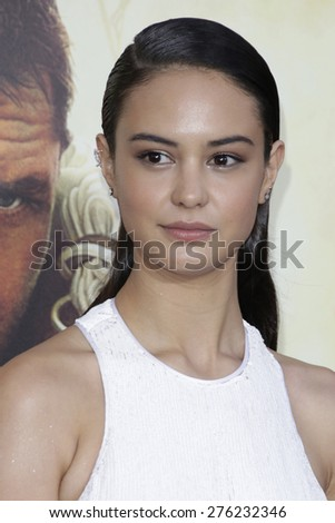 LOS ANGELES - MAY 7:  Courtney Eaton at the Mad Max: Fury Road Los Angeles Premiere at the TCL Chinese Theater IMAX on May 7, 2015 in Los Angeles, CA - stock photo