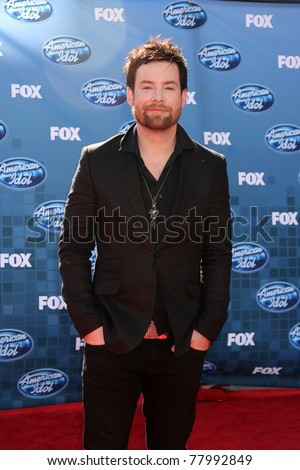LOS ANGELES - MAY 25:  David Cook arriving at the 2011 American Idol Finale at Nokia Theater at LA Live on May 25, 2010 in Los Angeles, CA.