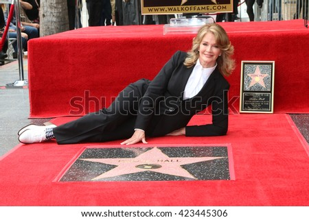 LOS ANGELES - MAY 19:  Deidre Hall at the Deidre Hall Hollywood Walk of Fame Ceremony at Hollywood Blvd. on May 19, 2016 in Los Angeles, CA - stock photo