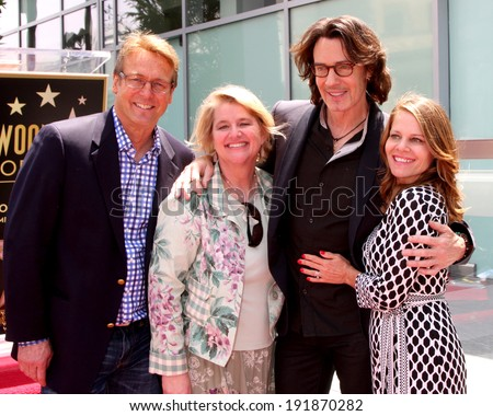 LOS ANGELES - MAY 9:  Doug Davidson, Cindy Fisher, Rick Springfield, wife at the Rick Springfield Hollywood Walk of Fame Star Ceremony at Hollywood Blvd on May 9, 2014 in Los Angeles, CA