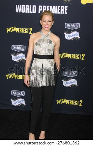 "LOS ANGELES - MAY 9:  Elizabeth Banks at the ""Pitch Perfect 2"" World Premiere at the Nokia Theater on May 9, 2015 in Los Angeles, CA - stock photo"