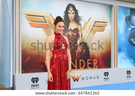 "LOS ANGELES - MAY 25:  Gal Gadot at the ""Wonder Woman"" Los Angeles Premiere at the Pantages Theater on May 25, 2017 in Los Angeles, CA"