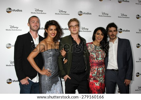 LOS ANGELES - MAY 17:  Jake McLaughlin, Priyanka Chopra, Graham Rogers, Yasmine Al Massri, Tate Ellington at the ABC International Upfronts 2015 at the Disney Studios on May 17, 2015 in Burbank, CA