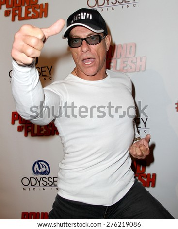 "LOS ANGELES - MAY 7: Jean-Claude Van Damme attends the premiere of ""Pound of Flesh"" at The Grove Pacific Theaters in Los Angeles on May 7, 2015."