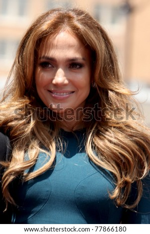 LOS ANGELES - MAY 23:  Jennifer Lopez at the Simon Fuller Hollywood Walk Of Fame Star Ceremony at W Hotel - Hollywood on May 23, 2011 in Los Angeles, CA - stock photo